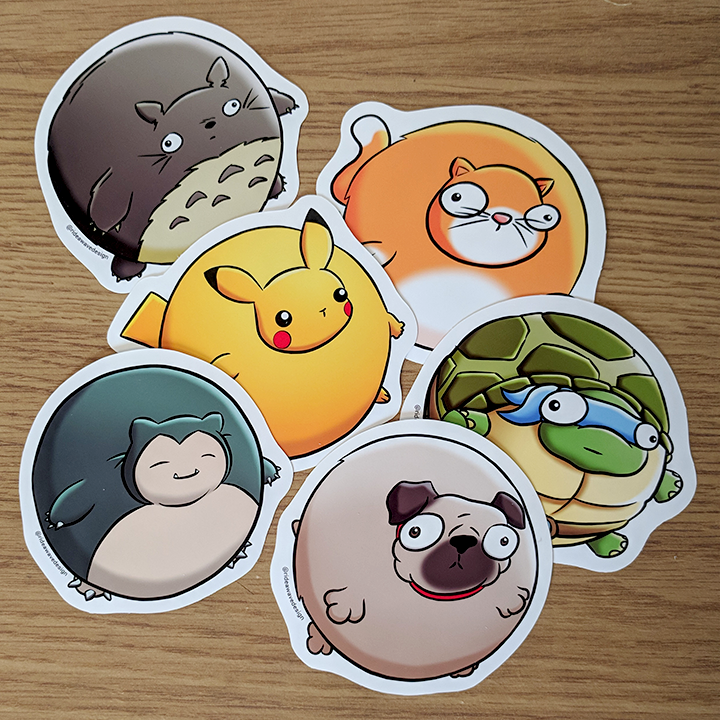 Bubble Buddy Vinyl Stickers