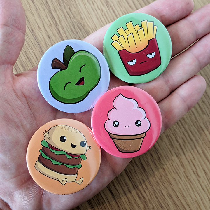 Cute Food Pin Badges