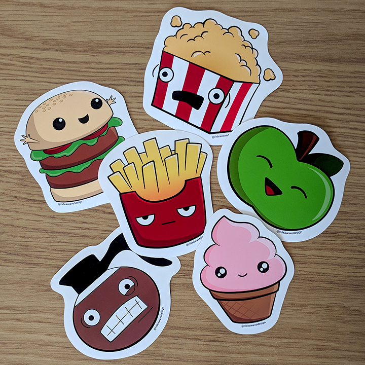 Cute Food Vinyl Stickers
