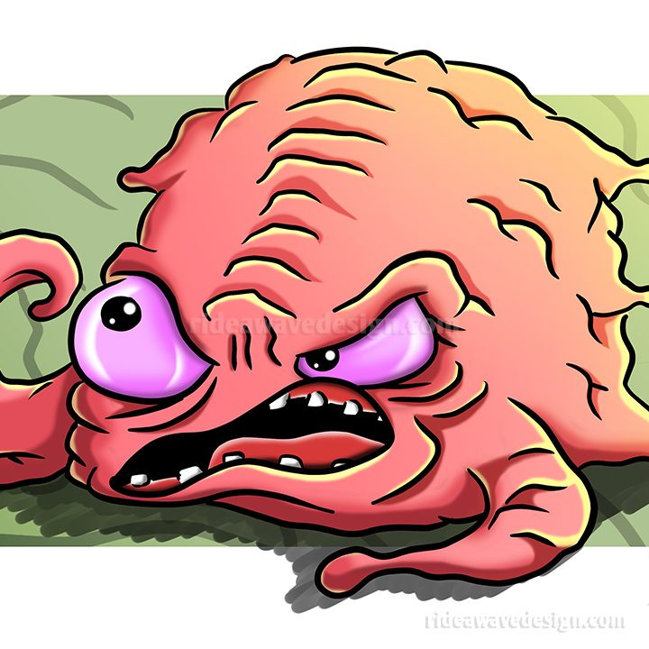 Krang Ninja Turtles Illustration