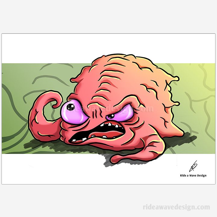 Krang Ninja Turtles Illustration Print