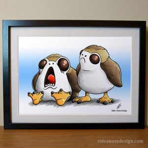 Porg Star Wars Art Print