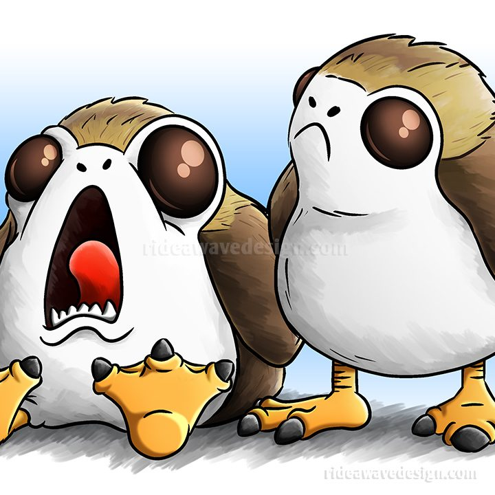 Porg Star Wars Illustration