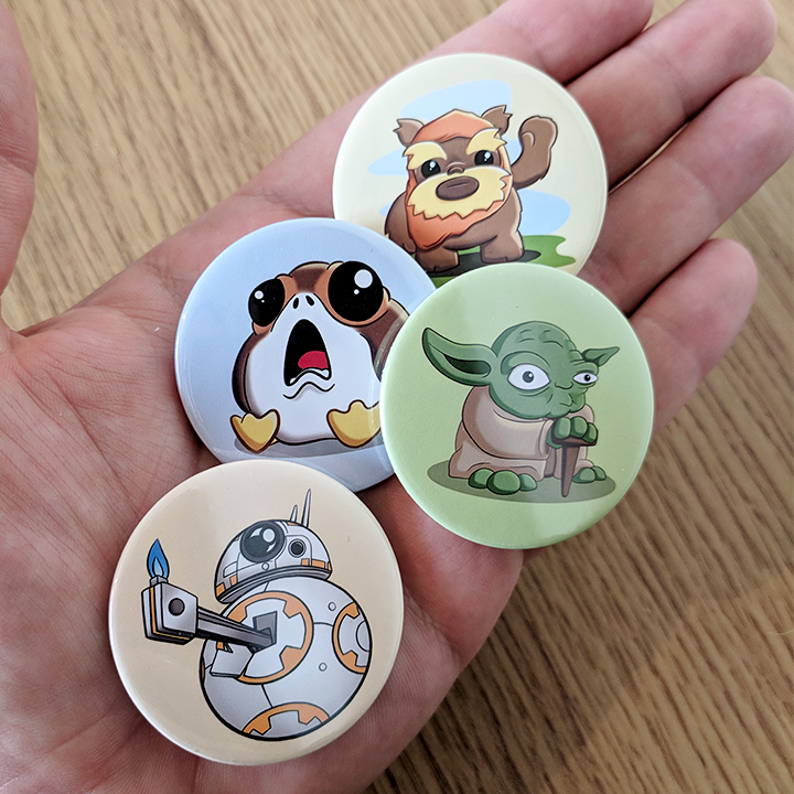 Star Wars Pin Badges
