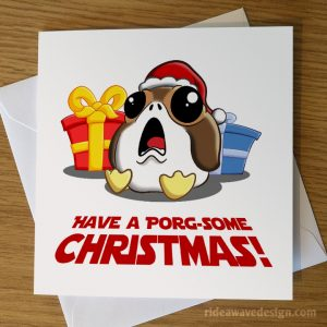 Porg Star Wars Christmas Card