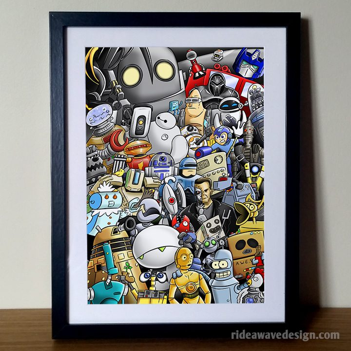 Robots Illustration Print