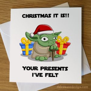 Yoda Star Wars Christmas Card