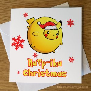 Funny Pikachu Pokemon Christmas Card