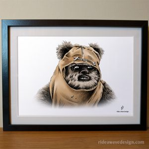 wicket ewok star wars art print