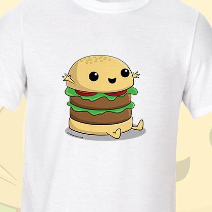 Cartoon Burger T-Shirt