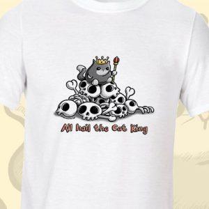 Cat King Illustration T-Shirt