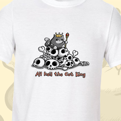 Cat King Illustration T-Shirt