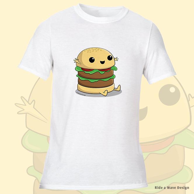 Cute Cartoon Burger T-Shirt