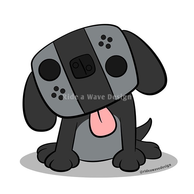 Nintendo Switch Dog Cartoon T-Shirt