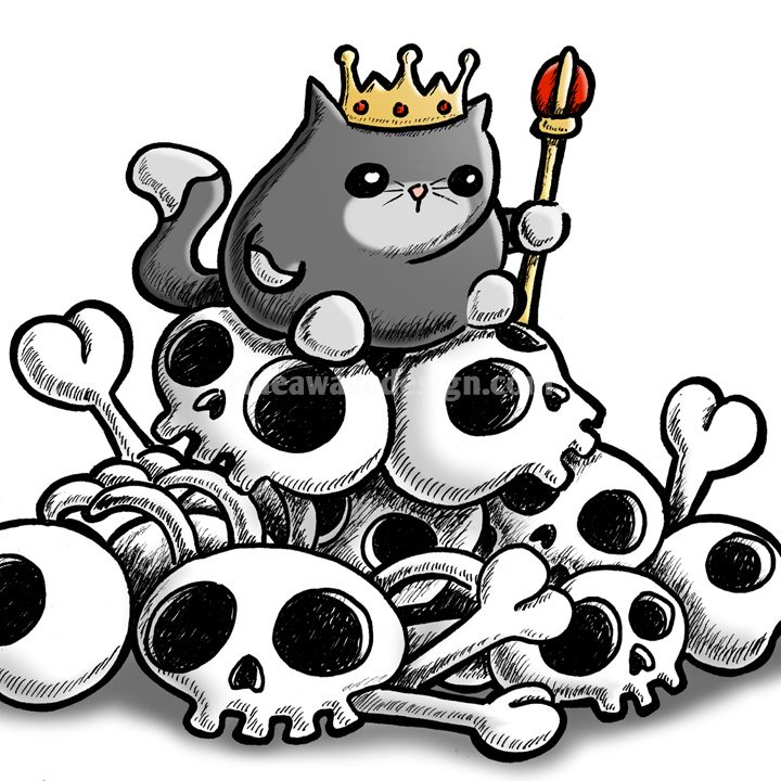 Cat King Illustration