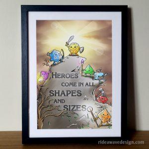 Dice Heroes Art Print