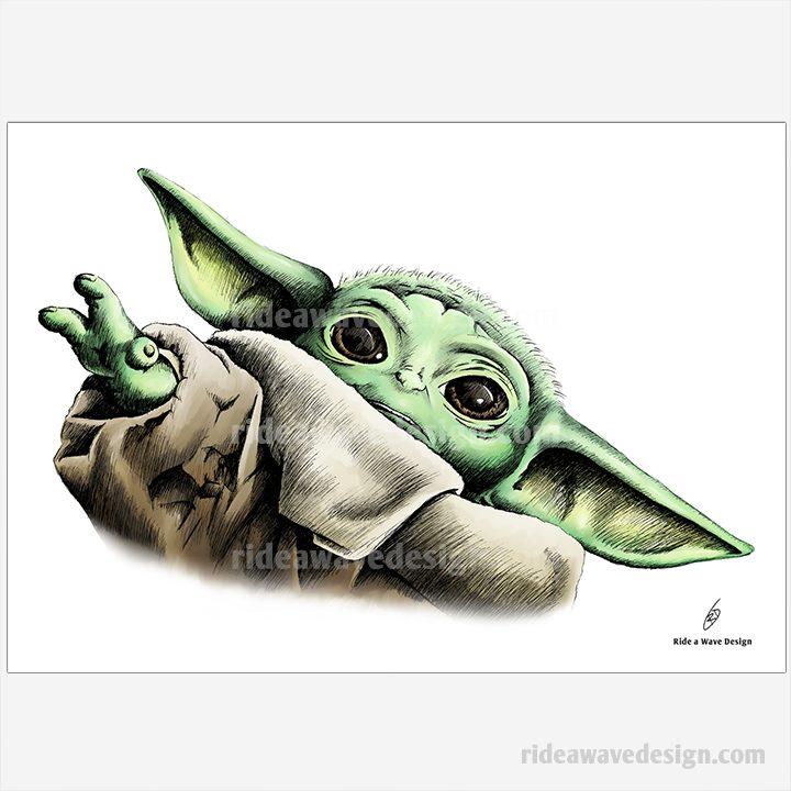 Baby Yoda Mandalorian Illustration