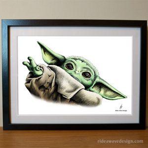 Baby Yoda Starwars Art Print