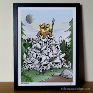 Ewok Star Wars Art Print