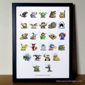 Geek Alphabet Art Print