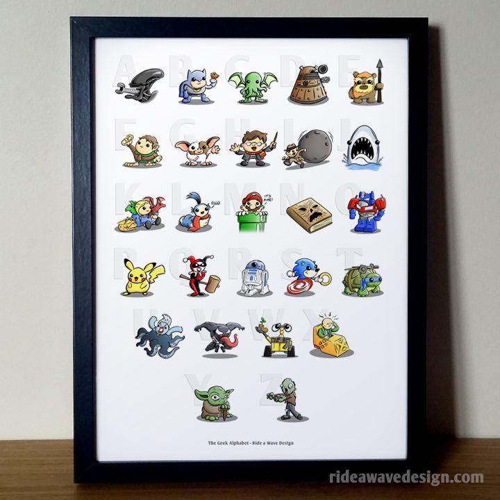 Geek Alphabet Art Print