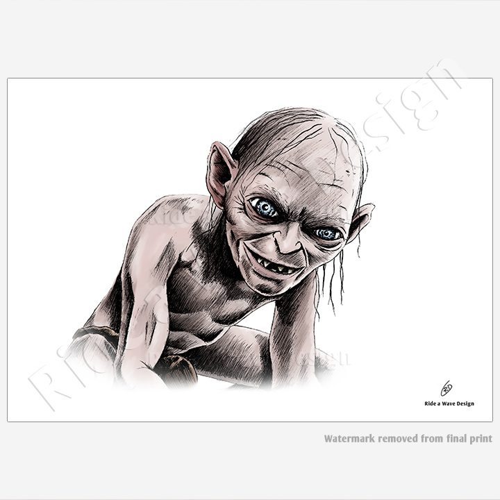 Gollum Lord of the Rings Illustration