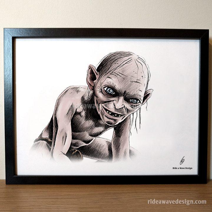 Gollum LOTR Art Print