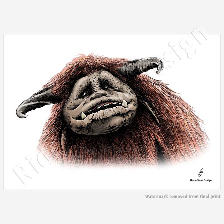 Ludo Friend Labyrinth Illustration Print