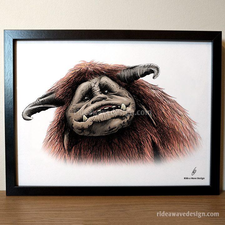 Ludo Labyrinth Art Print Framed