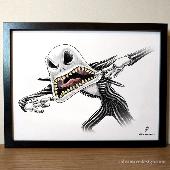Jack Skellington Nightmare Before Christmas Art Print
