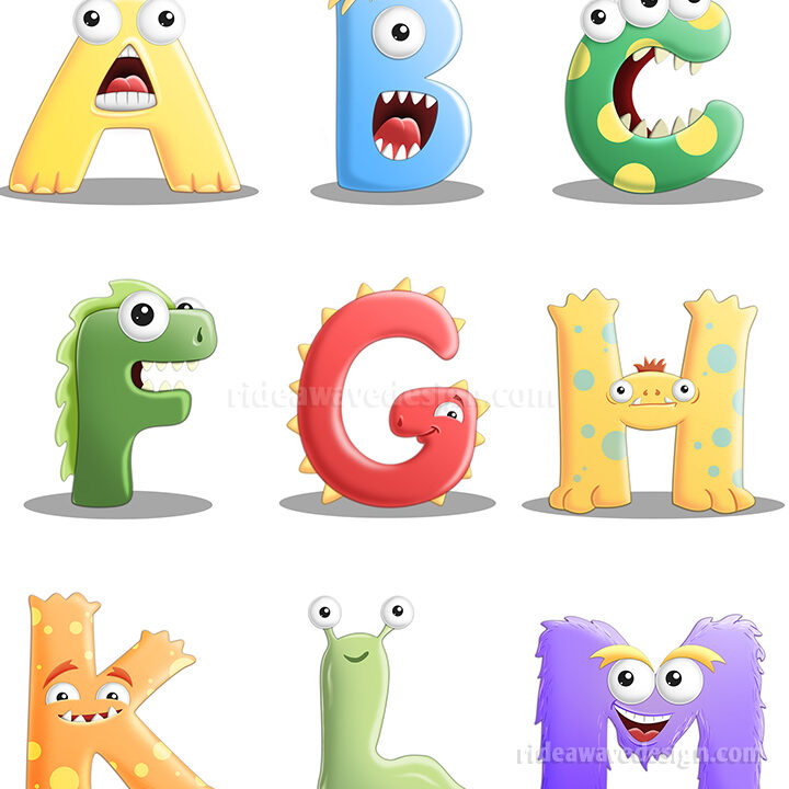 Monster Alphabet Illustration
