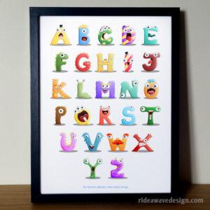 Monster Alphabet Nursery Decor