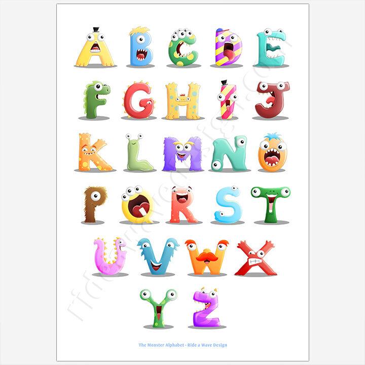 Monster Alphabet Wall Art