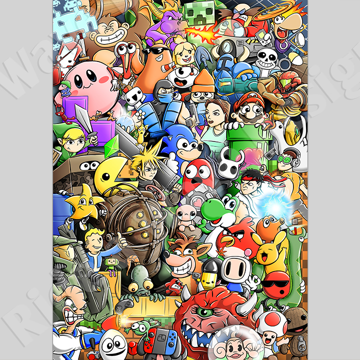 Video Game Characters Art Print