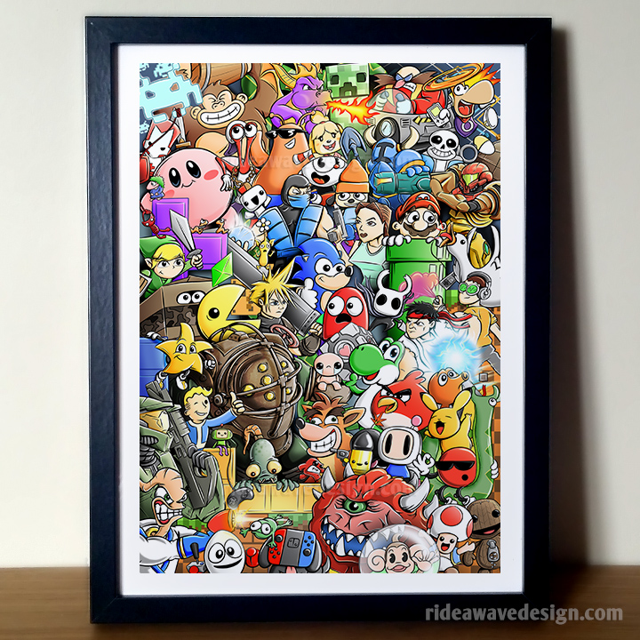 Video Game Characters Illustration