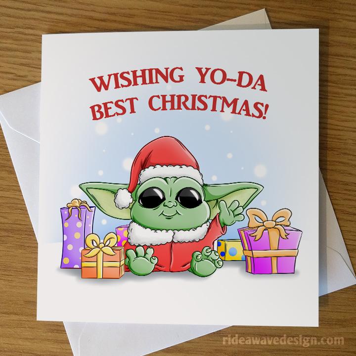 Baby Yoda Christmas Card