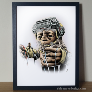 Babu Frik Star Wars Art Print