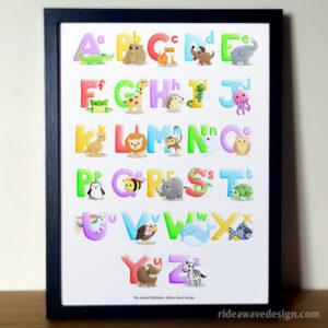 Animal Alphabet Nursery Decor