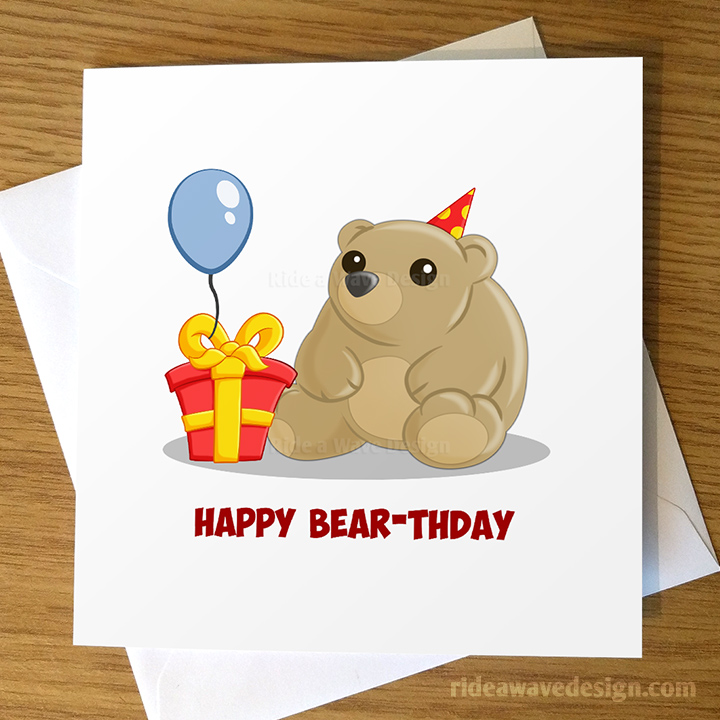 Happy Bear-thday Card