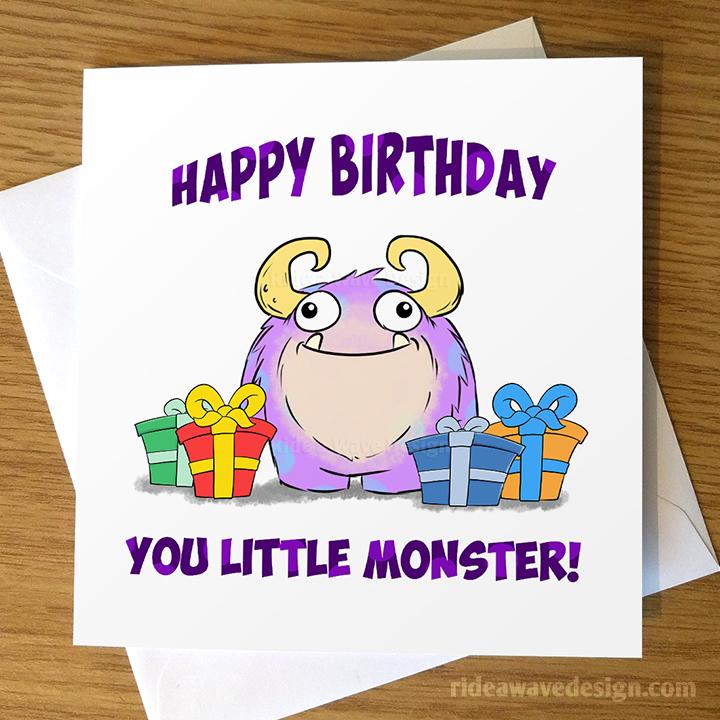 Happy Birthday Little Monster Card